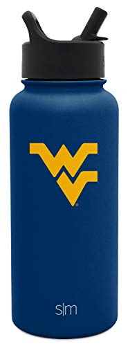 (Simple Modern University Collegiate 32oz Summit Water Bottle with Straw Lid West Virginia)