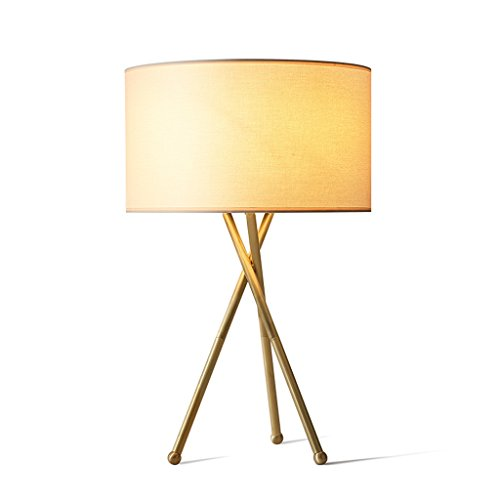 Cooper Crystal Table Lamp - HLJ Full Copper American Style Living Room Lamp Study Room Creative Table Lamp Simple Bedroom Bedside Lamp Personality Nordic Lamps