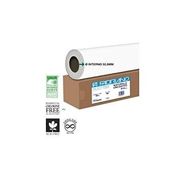 Fabriano 16200080 - Papel para plotter (62,5 cm, 50 m, 80 g/m²): Amazon.es: Oficina y papelería