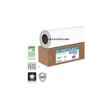 Fabriano 16200080 - Papel para plotter (62,5 cm, 50 m, 80 g/m² ...