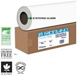 Papel de Rollo Blanca Fabriano para plotter 914 mmx50 m 80 gr Inkjet [17140080]: Amazon.es: Electrónica