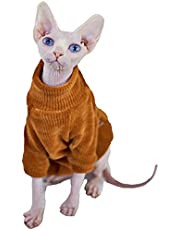 Sphynx Cat Clothes Hairless Cat Sweater Thickness Warm Sweater Sphynx,Devin, Konnis Cat Clothes for Small and Medium Cats and Dogs