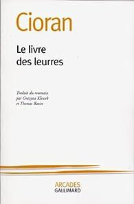 Le livre des leurres par Emil Cioran