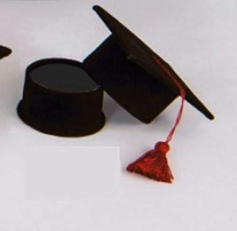Scatolina velluto Tocco Laurea portaconfetti porta confetti nero ... 2985b8e40fbd