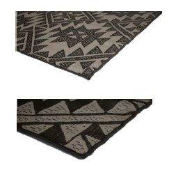 Korhani Reversible Patio Loft Flat Weave Rug Mat Pad for Indoor or Outdoor Use 5' x 7' 100% POLYPROPYLENE (Beige and Black) by Korhani