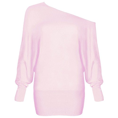 lunga Maglia Baby Basic Pink a manica Donna Fashion Lovers 4ITqPF