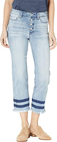 Liverpool Women's Sadie Crop Straight Jeans w/Exposed Buttons in Eco-Friendly Denim in Stonehenge Stonehenge 6 25