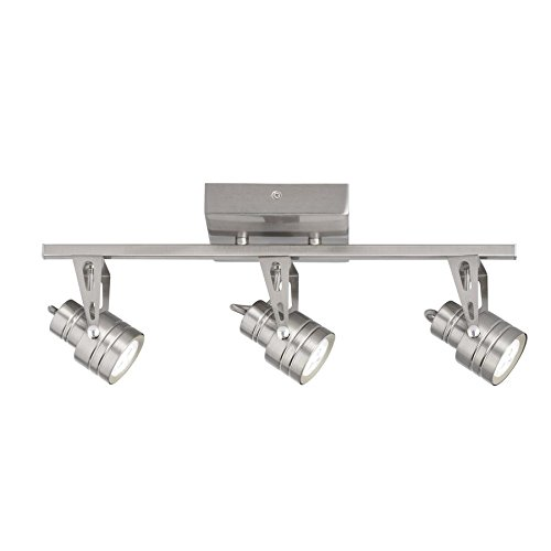 Kichler Cadigan 3-Light 17.75-in Satin Nickel Dimmable LED Track Bar Fixed Track Light Kit by KICHLER (Image #1)'