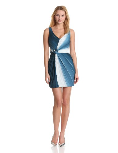 ERIN erin fetherston Women's Twist And Tied Sleeveless Ruched Cocktail Dress, Grenadine Ombre, 2 - Erin Fetherston Silk