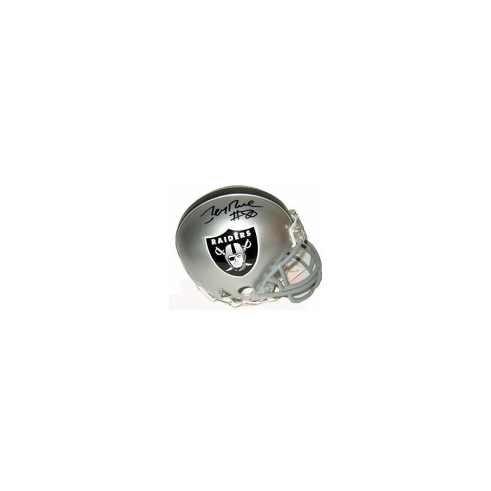Signed Jerry Rice Mini Helmet   Replica