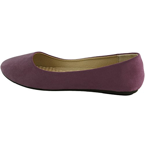 Purple Womens For Occasions DailyShoes Flats Slip Round Loafer On Upper Suede Ideal Shoes Casual Flat Lavender Comfortable Classic Sneaker 4OWBTn