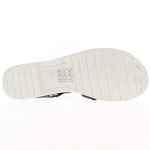 Sandali Centimetro Tacco Bianca Piccolo 1 Con Suola Neri prwqgxp