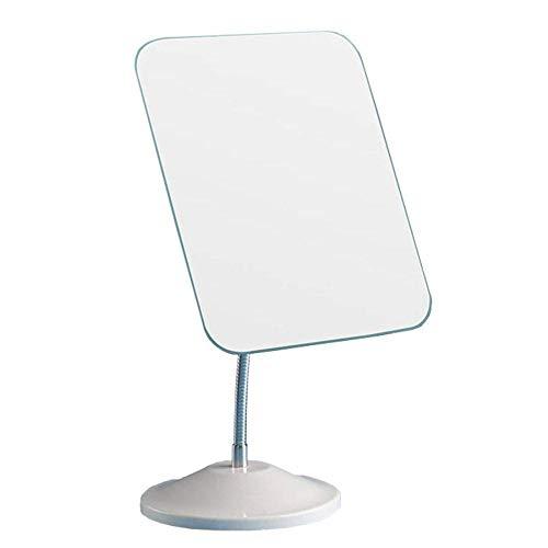DTTX001 Home Desktop Vanity Mirror Vertical Mirror 360° Rotating 8 Inch, Home Desktop Vanity Mirror Portable Makeup Mirror Pine Flexible Neck, Adjustable Rotation High Definition,White,A