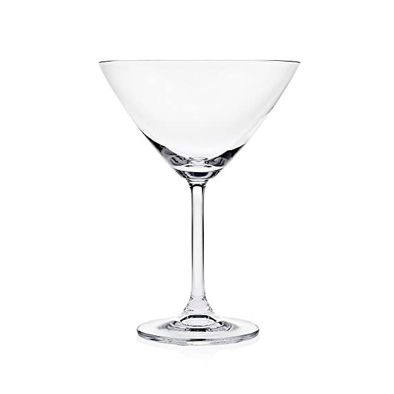 Godinger Meridian 9.5 Oz. Martini/Dessert Cocktail Glass - Set of 4 1 Dimensions: 5 diam. x 7H in. Glass constructed 9.5 oz. capacity