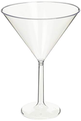 (goodieGumDrops 353001.86 Plastic Martini Glasses 25oz Clear(pack of)