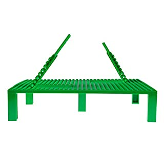 "Strictly Briks Classic Trap & Gap 10"" x 10"" Green Stackable Baseplate 