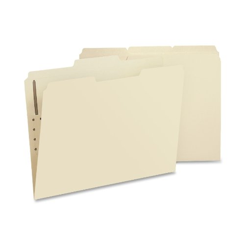 Fastener File Folder Letter (Smead 14534 Folders, One Fastener, 1/3 Cut Assorted, Top Tab, Letter, Manila (Box of 50))