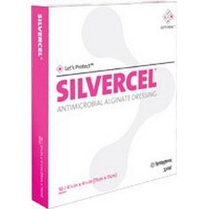Systagenix Wound Management 53800202 Silvercel Antimicrobial Alginate Dressing 2'' X 2'',Systagenix Wound Management - Carton 10 by Johnson & Johnson
