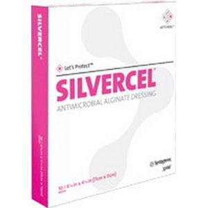 Dressing Barrier Antimicrobial (Systagenix Wound Management 53800202 Silvercel Antimicrobial Alginate Dressing 2
