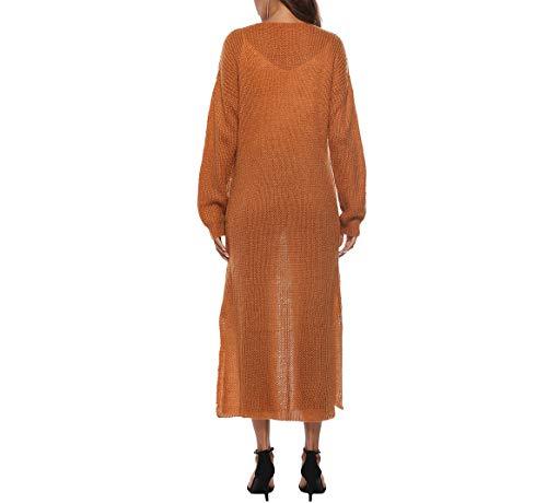 Capuche Décontracté Longues Pleine Epais quotidien couleur Erica Manteau hiverBeigeM Manches Femme Beige Automne Simple Polyester gris 5L34jRA
