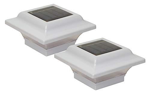 (Classy Caps SL082W 2.5x2.5 Imperial Solar Post Cap - 2 Pack/White)