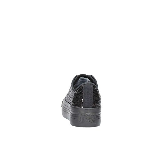CONVERSE Las mujeres con plataforma baja 556785C zapatillas de deporte CTAS PLATAFORMA OX NEGRO NEGRO
