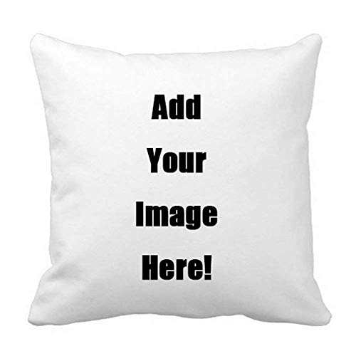 (popeven Your Photo Text Here Custom Pillow Cover Personalized Throw Pillow Case 20 x 20 Inches)
