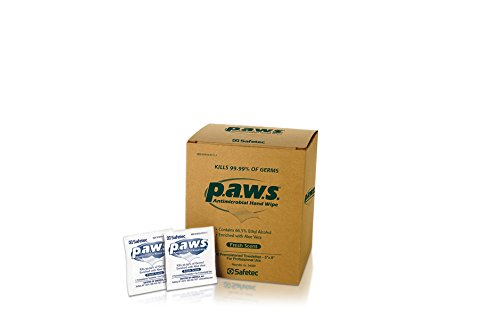 Antimicrobial Hand Sanitizer Wipes - Safetec paws Hand Wipes, 100 ct. (Individuals) box (10 boxes/case)