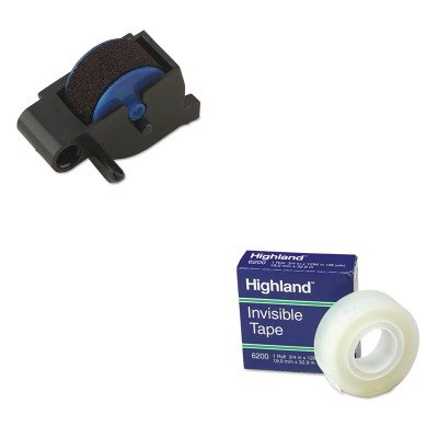 1296 - Value Kit - Dymo Replacement Ink Roller for DATE MARK Electronic Date/Time Stamper (DYM47001) and Highland Invisible Permanent Mending Tape (MMM6200341296) ()