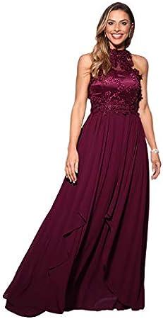 Vestido largo de fiesta perfecto para diferentes ocasiones invitada boda/dama de honor/madrina/fiest