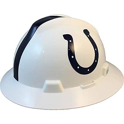 MSA 10194755 NFL V-Gard Full Brim Hard Hat, Indianapolis Colts