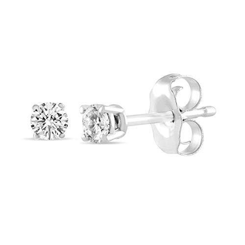 IGI Certified 14K Gold Diamond Stud Earrings (1/4CTW, Clarity I2I3) ()