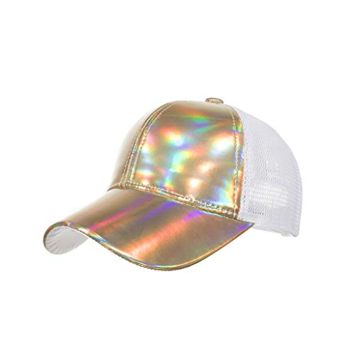 Dressin Unisex Baseball Cap Breathable Quick Dry Mesh Sun Hat Fashion Sport Cotton Caps Gold