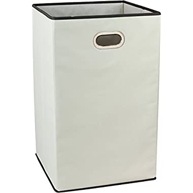 DecoBros Folding Laundry Clothes Hamper, 23-inch , Beige