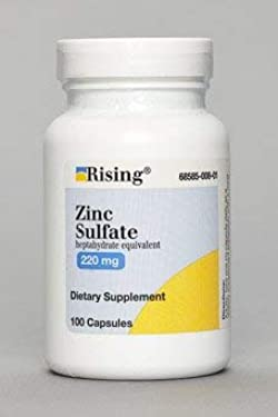 Zinc Sulfate heptahydrate equivalent 220Mg Capsules - 100 each (3 pack)