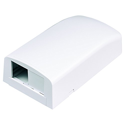 - Panduit CBX2WH-AY 2-Port Surface Mounting Box for LD3/LDP3/LD5/LDP5, White