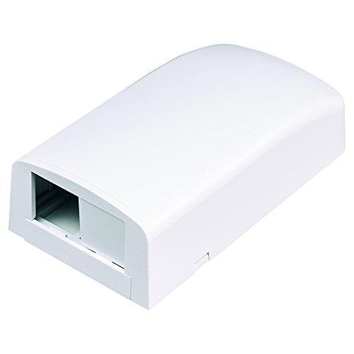 Panduit CBX2WH-AY 2-Port Surface Mounting Box for LD3/LDP3/LD5/LDP5, White (Surface Box Fiber Mount)