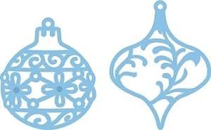 Marianne Design - Troqueles, diseño de decoraciones de árbol de Navidad (2 unidades), color azul