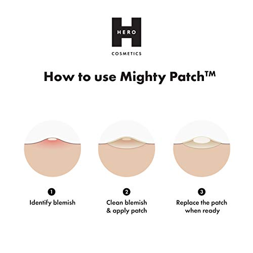 Mighty Patch Original - Hydrocolloid Acne Pimple Patch Spot Treatment (36 depend) for Face, Vegan, Cruelty-Free…