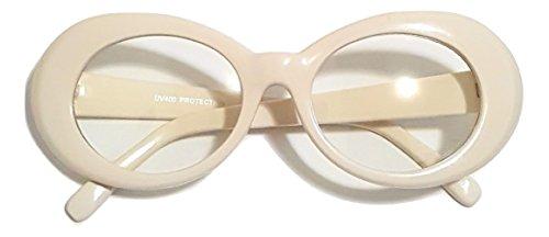 Aviator Vintage Womens Polarized Sunglasses Retro Eyewear (White) - 1