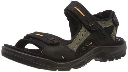 ECCO Men's Yucatan outdoor offroad hiking sandal, Black/Mole/Black, 45 EU (US Men's 11-11.5 M)