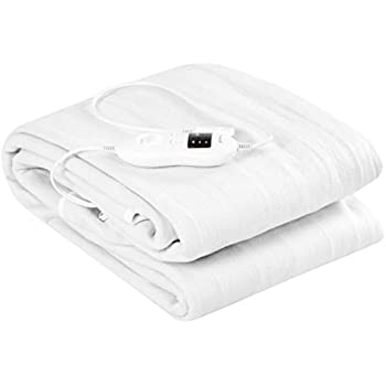 Giantex Heated Mattress Pad w/ 8 Temperature Regulation and 4 Mode Timing Function, Easy Set and Fast Heating Technology, Detachable Electric Heating Bed Toppers