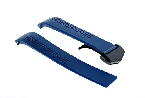 Tag Heuer Rubber Strap - 20MM Rubber Strap Band Clasp for 42MM TAG HEUER AQUARACER Calibre 5 WAY211A Blue