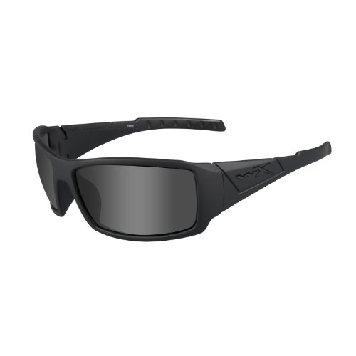 Wiley X Twisted Ops Sunglasses, Grey/Black, Polarized Smoke ()