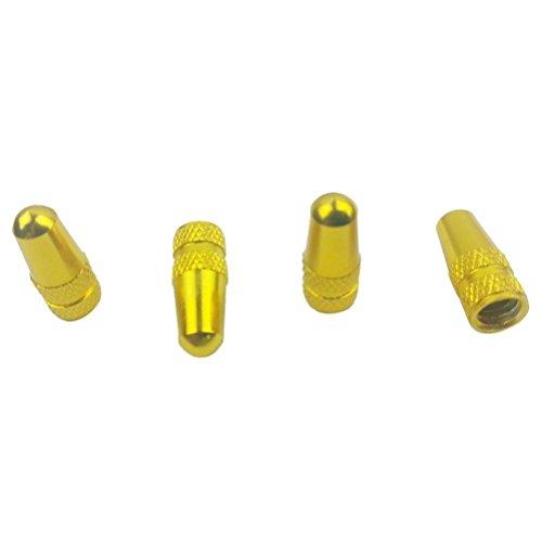 AMA(TM) 4PCS BicycleWheel Rim Tyre Stem Air Valve Caps Dust Cover (Yellow)