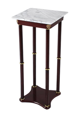 Square White Marble Top Accent Table (FREE Coaster Included)