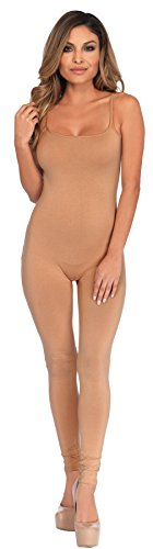 UHC Women's Basic Unitard Bodysuit Funny Theme Skinsuit Halloween Costume, Nude, S/M (4-8) (Clown Bodysuit)