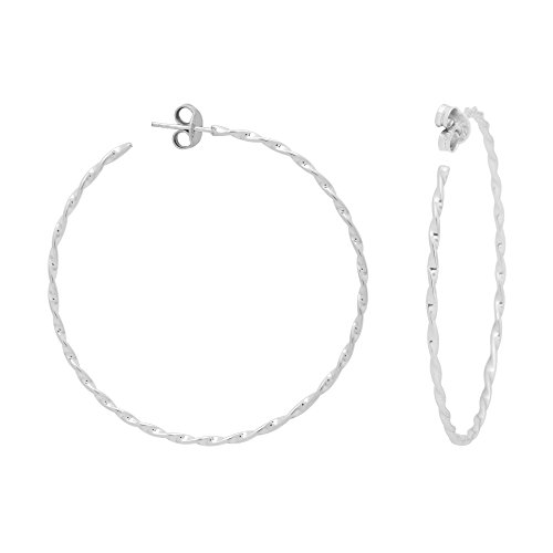 Shine Jewel 92.5 Sterling Silver Silver Hoop Earring For Beautiful Women