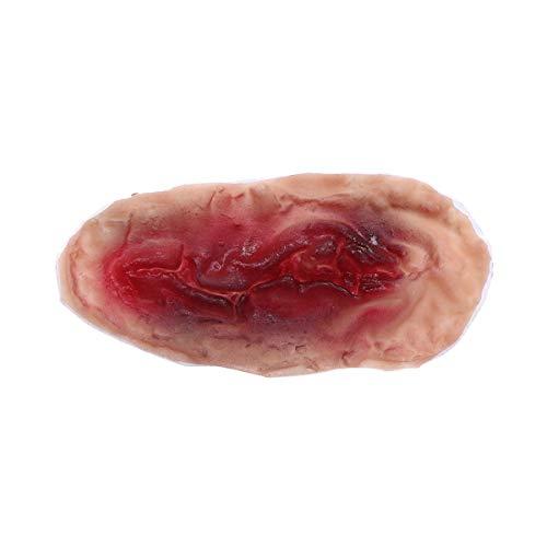 BESTOYARD Halloween Realistic Zombie 3D Scar Tattoos Fake Scars Bloody Costume Horror Wound Blood Injury Sticker (Pattern C) for $<!--$4.25-->