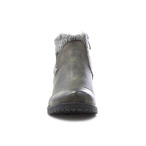 Lotus Knöchel-Aufladung mit Einem Gestrickten Stellring IM Grau für Frauen durch Grau